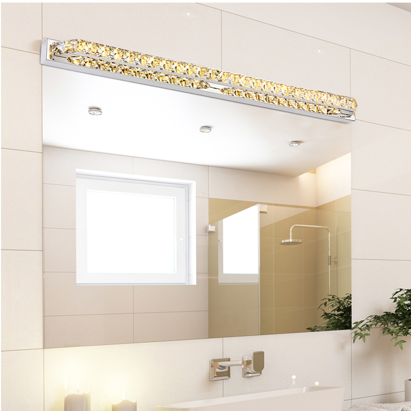 2015 Modern Led Crystal Bathroom Mirror Sconces Light 23w Over Mirror Front Lights Lamp Bath