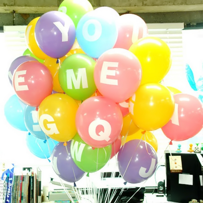 Wholesale 100pcs/lot 12inch Helium Latex Wedding Balloons Letters And 0-9 Print Balloons Birthday Party Decorations(China (Mainland))