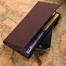 High quality Leather men s Wallets Wholesale leather purse long leather wallets Free Shipping