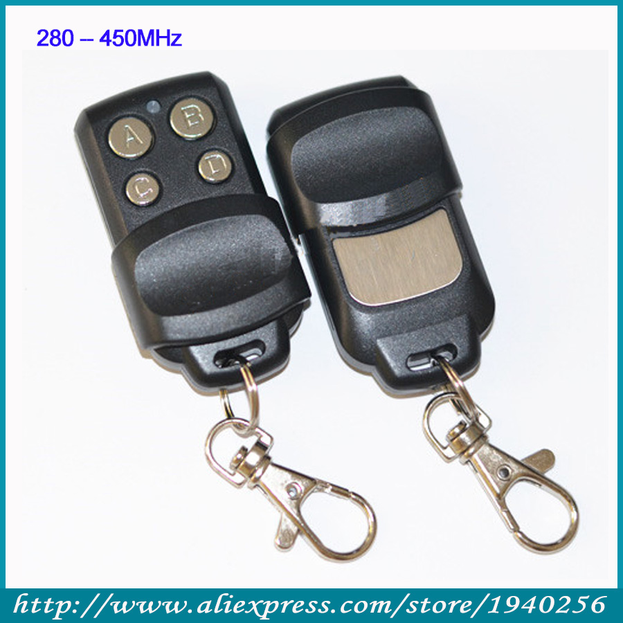 Abcd кнопки радиобрелока 280 - 450 мГц металл толкающие крышка дистанционного управления автомобилем дверь self-пластиковые клонирование дистанционным мотоцикла - противоугонное устройство