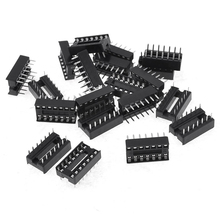 20 unids 14 Pins 2.54 mm DIP zócalos ci soldadura tipo adaptadores