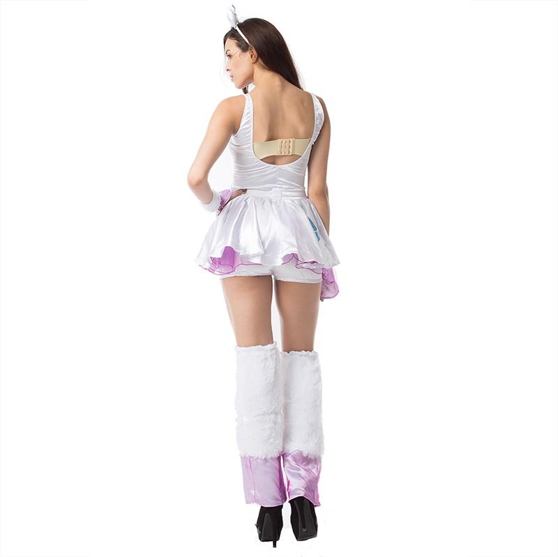 New Design Women Sexy Luxury Cute Animal Unicorn Costume Halloween Fancy Dress Cosplay Carnival Halloween Uniform Party Clubwear