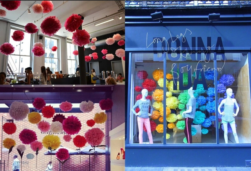 29 Colors avilable!! Wedding giant paper pom poms wall decoration 18inch(45cm) 10piece/lot DIY paper flowers rose ball garland(China (Mainland))