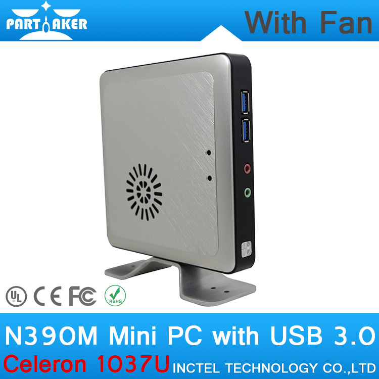 8G RAM 512G SSD N390M Celeron 1037U Linux Mini PC with Aluminum Alloy Shell support WiFi Bluetooth(China (Mainland))