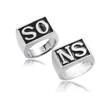 Pairs European And American Fashion Jewelry  Gold Plated/Silver The Movie Personality Sons of Anarchy Men's Punk Metal Rings