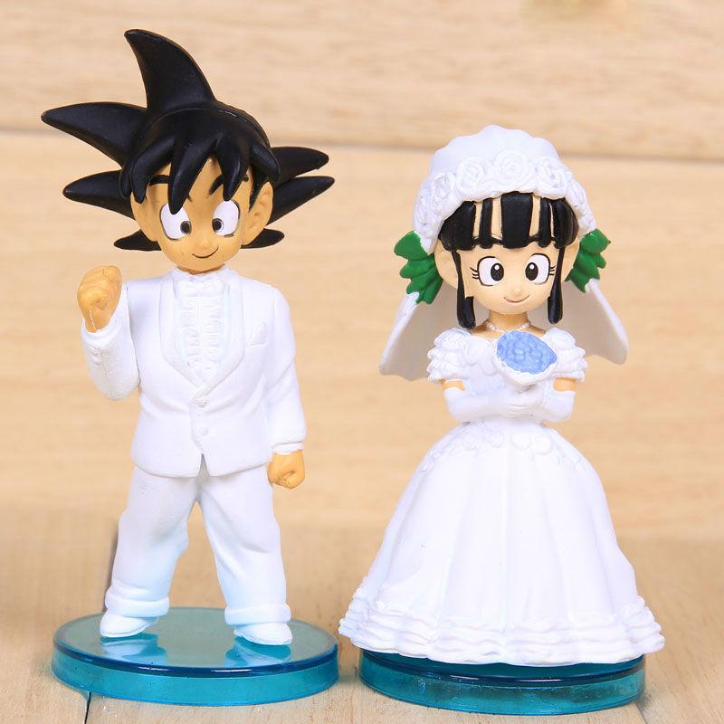 Toys For The Honeymoon : Dragon ball action figures goku and chichi wedding series