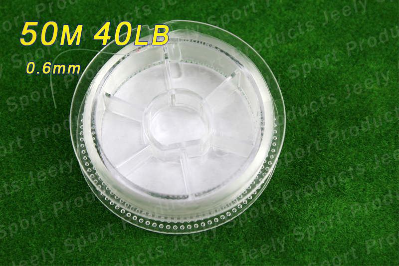 Free Shipping!50m 40lb High Quality Transparent Japanese Fluorocarbon Leader Fishing Line 0.6mm