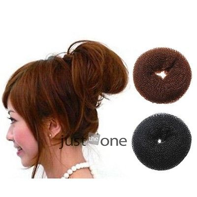 Brown/Black Hairdressing Hair Donut Bun Ring Shaper Styler Maker Tools 3 Size(China (Mainland))