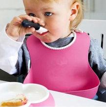 Baby Bibs Silicone Waterproof Bibs Infants Cute Lunch Kids Self font b Feeding b font Care