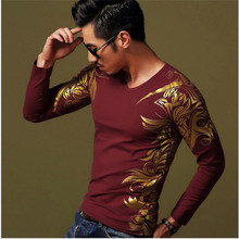 Classic design casual shirt men's autumn clothing tops men high-end luxury men's long-sleeved t-shirt 3 colors British style