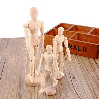 NEW Artist Movable Limbs Male Wooden Figure Model Mannequin bjd Art Sketch draw 4.5 5.5 8 INCH