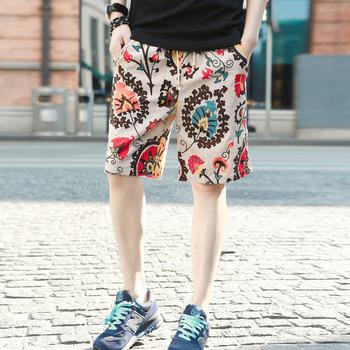 Новое поступление мужские летние шорты красочные цветы шорты пляжные шорты бесплатная доставка
