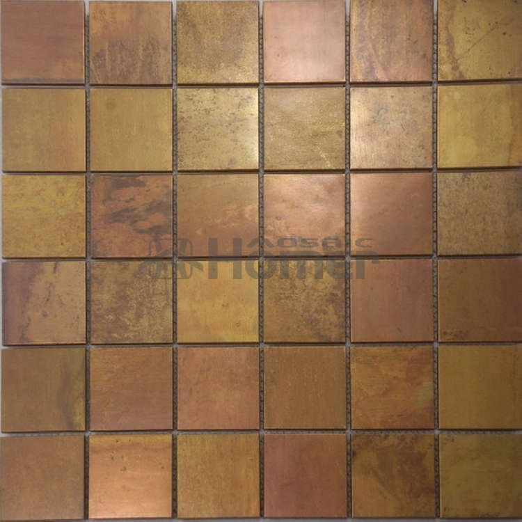 free shipping,  bronze mosaic tiles 48x48mm ,  HME8501, homer mosaic,11 sq ft/lot<br><br>Aliexpress