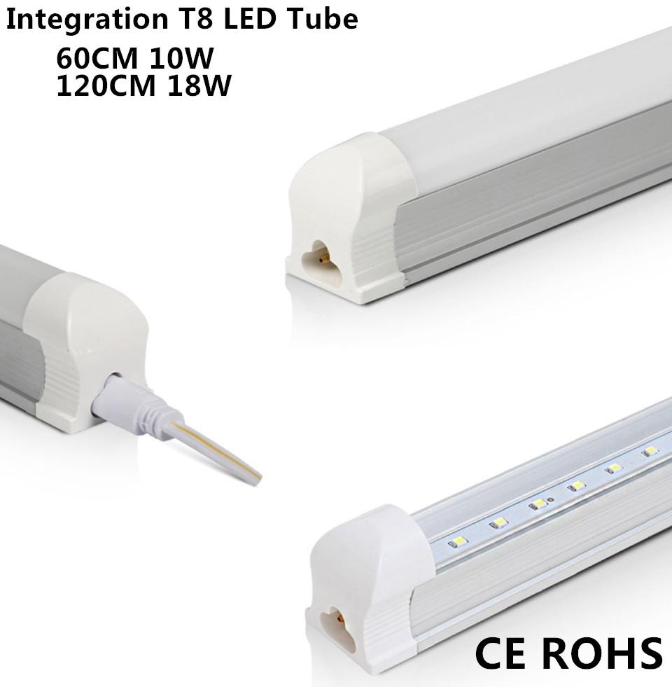 Здесь можно купить  CE ROHS 4ft 1.2m 120cm 1200mm 18W Integration T8 Led Tubes Light Warm Cool White Led indoor Light Lamp AC110 220 230 240V  Свет и освещение