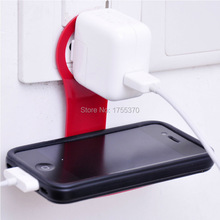 Foldable Charge Charging Wall Holder Shelf Stand Cradle For Mobile Cell Phone MP3(China (Mainland))