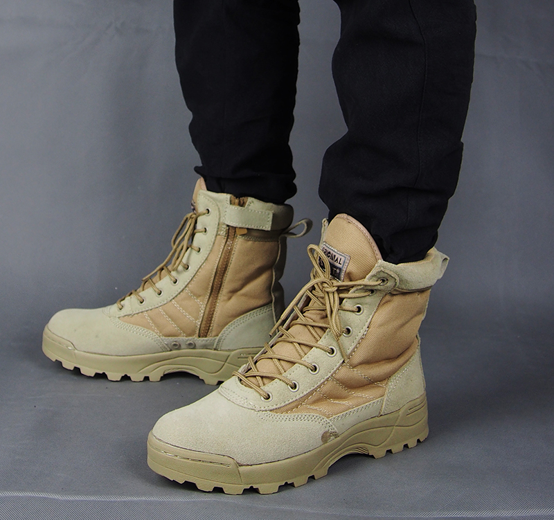 outdoor hiking shoes waterproof High quality winter leather hiking boots men / Military Boots(China (Mainland))