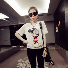 Women T Shirts New Arrival Color  Mouse Short Sleeve Casual t-shirt Women   Loose Red/ White tops Harajuku tshirt(China (Mainland))