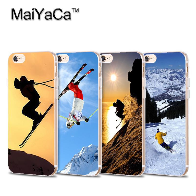 Skiing Special White snow mountains Transparent TPU Soft Cell Phone Protective Cover For iPhone 4s 5s 6s 7 7plus case(China (Mainland))