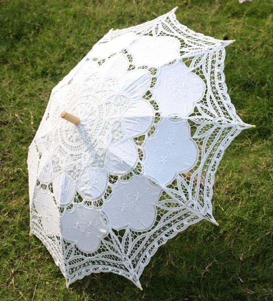 White Lace Parasol Umbrella Wedding Bridal Wedding Umbrella 30 Inch New Vintage Lace Umbrella