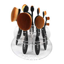 Buy 10 Hot Oval Makeup Brush Holder Drying Rack Organizer Cosmetic Foundation Cream Powder Blush Make up Brush Set Shelf Tool kits for $5.38 in AliExpress store