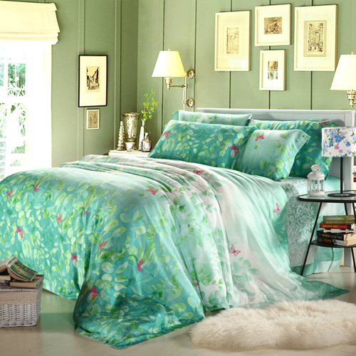 FREE SHIPPING! 20.22m 2012 spring and summer double faced tencel piece set piece bedding set