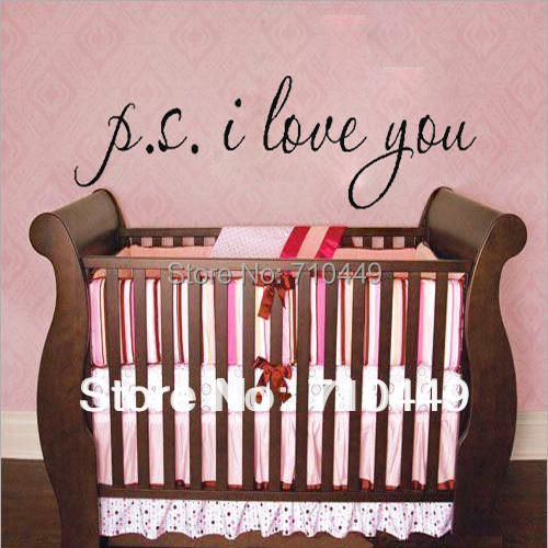 Love quote vinyl wall decal decorative sticker 1pc retailer {I love you}