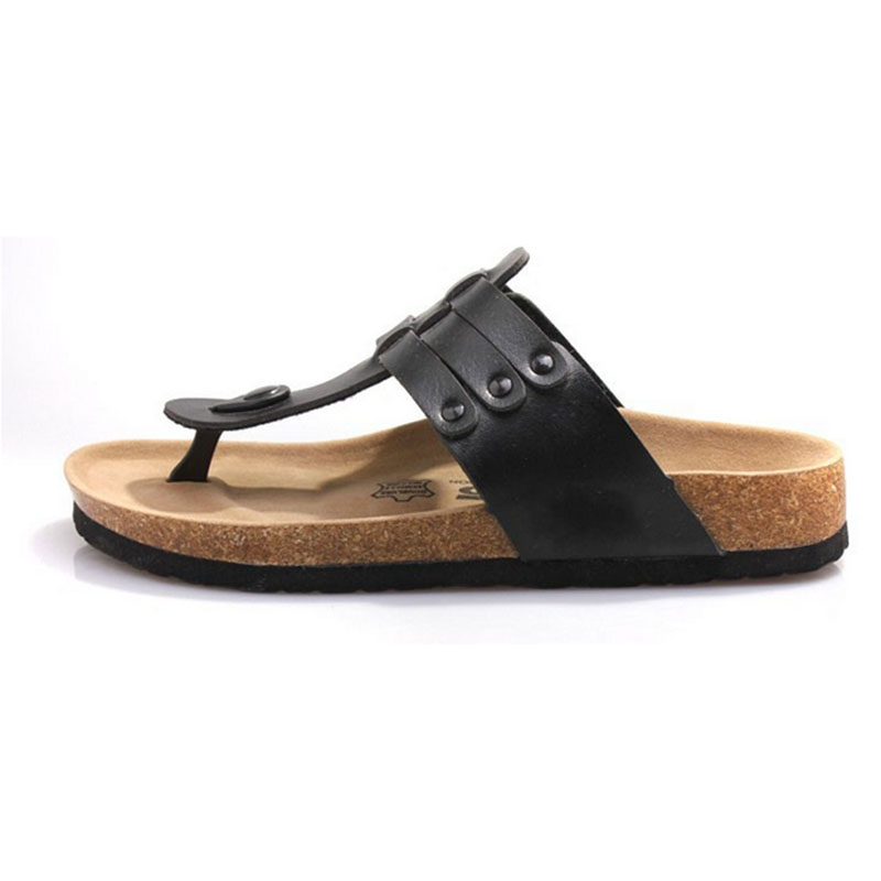 CoolFar 3 color man cork Roman sandals shoes woman sandals and boy flip flops hot sale and free shipping with best quality C6(China (Mainland))