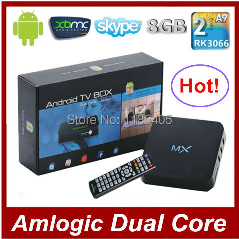 Mini PC Dual Core Android TV Box XBMC Midnight MX 1GB RAM 8GB ROM Dual ARM Cortex A9 Build in WiFi Android 4.4.2 Remote Control(China (Mainland))