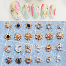 Manicure jewelry alloy tools Japan clou with metal diamond pearl 5 collection eight(China (Mainland))