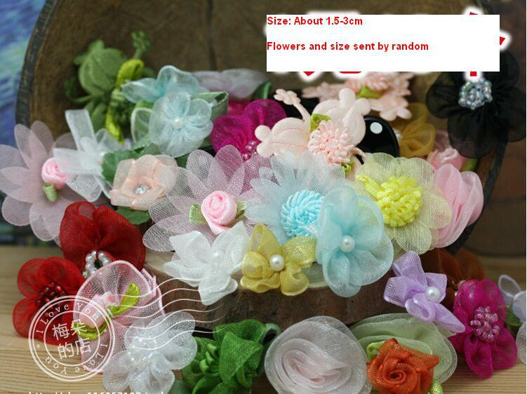 Free Shipping Cheap Clothing accessories Handmade flowers 1.5-3cm(China (Mainland))