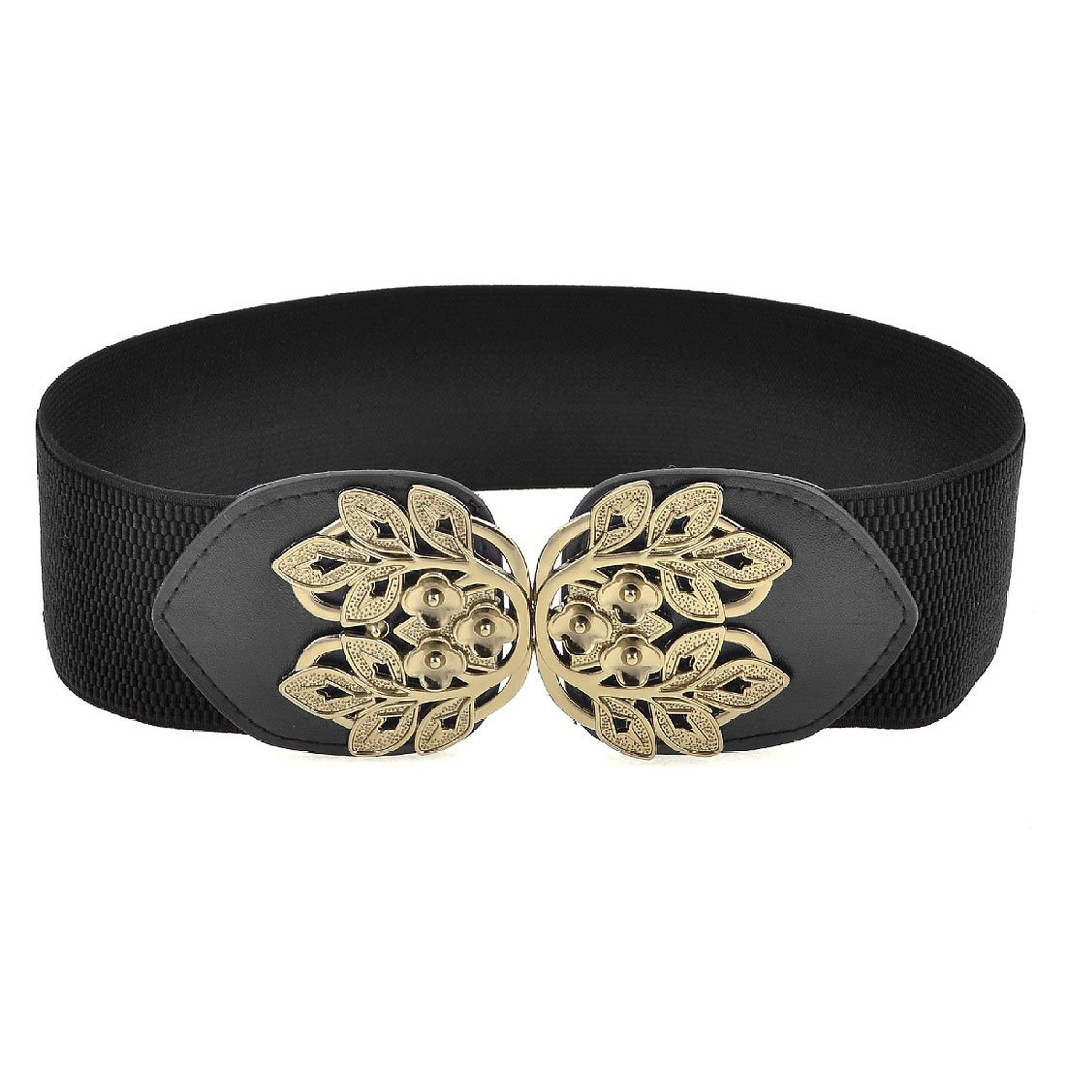 Promotion ! Elastic Fabric Band Plum Blossom Design Cinch Belt for Ladies,IN STOCK(China (Mainland))