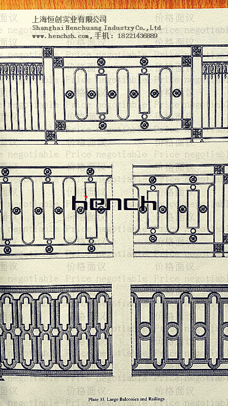 Custom Design Continental Iron railing iron balustrades iron banisters Classic design ash r163-23(China (Mainland))