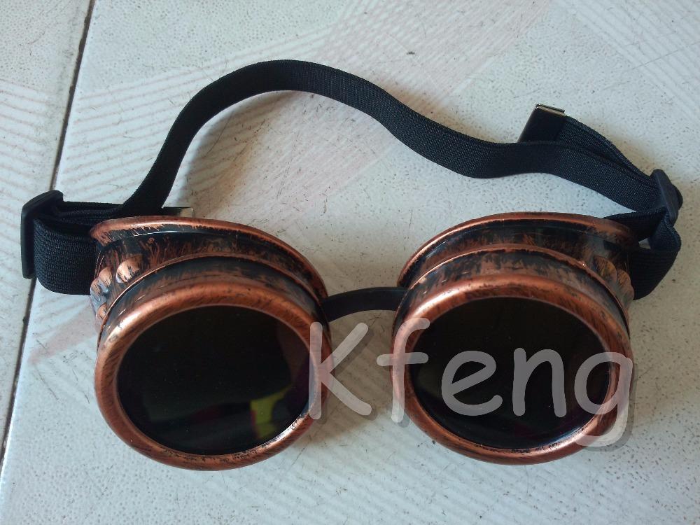 High quality steampunk goggles vintage men school biker sunglasses free shipping(China (Mainland))