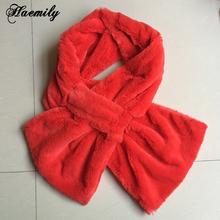 Lovely Women Faux Fur Scarves Rose Design Girls Natural Fur Cross Scarf Winter Soft Muffler PC058(China (Mainland))