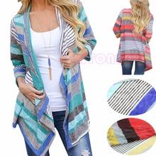Boho Womens Long Sleeve Cardigan Loose Sweater Outwear Knitted Jacket Coat Tops(China (Mainland))