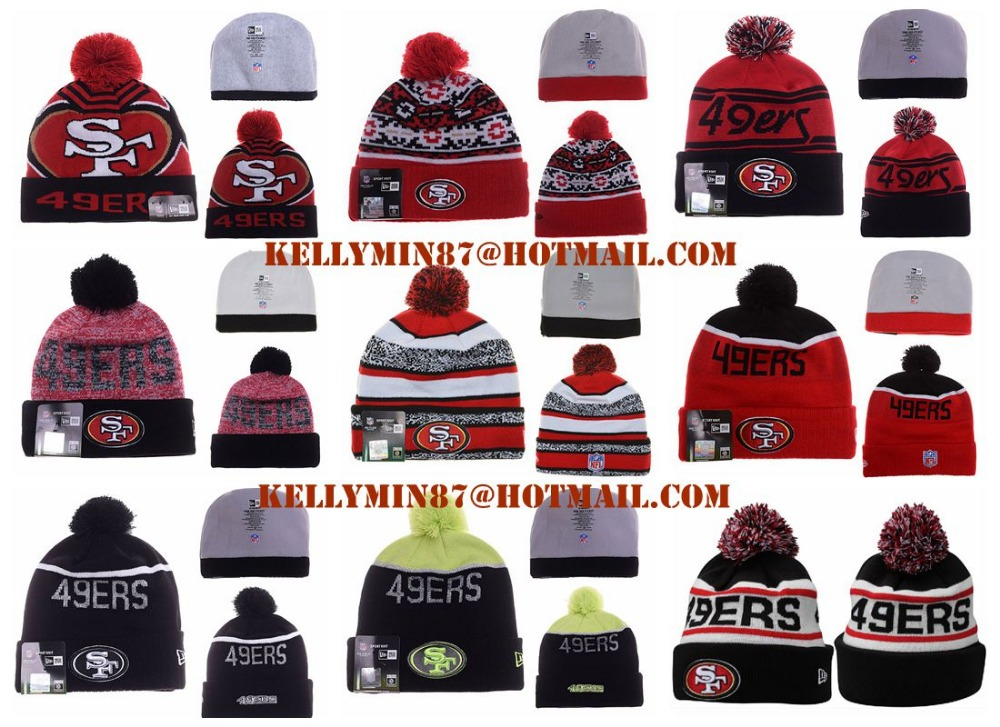 The 50th season kniited hats,high quality,San Francisco 49ers knit hats,San Francisco 49ers beanies,big order have big discounts(China (Mainland))