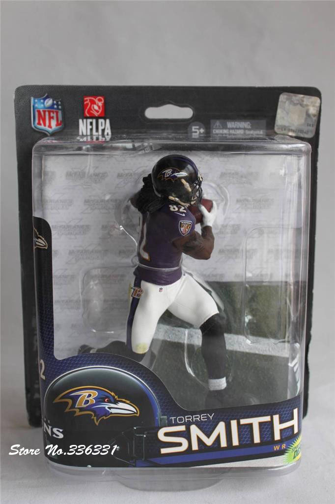 HOT SELL FREE SHIPPING McFarlane TOYS model NFL 33 Torrey SMITH 6'' action figure #82 NEW WR debut(China (Mainland))
