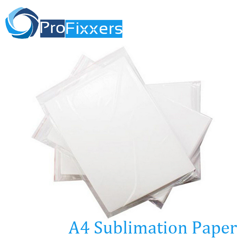 100 Sheets A4 Sublimation Paper For 3D Sublimation machine Ink Printer High Transfer Rate Mug,Glass Rock For Heat Press Machine(China (Mainland))