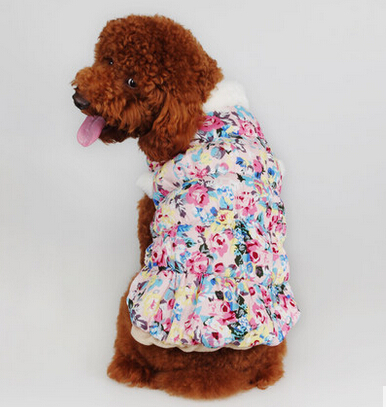 2016 New Arrival Autumn Winter Fashion Small Medium Dogs Fleece Jacket Coat With Print Pattern Clothing For Pets Free Shipping(China (Mainland))