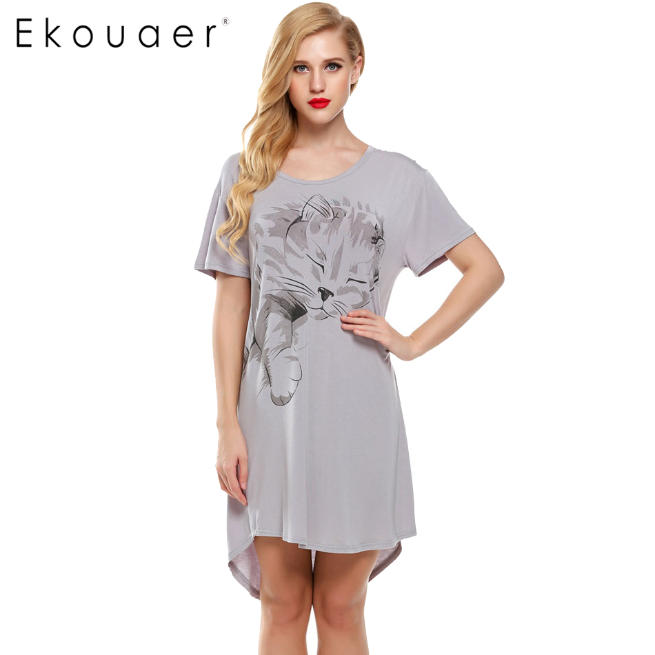 ekouaer nightgowns summer sleepwear casual