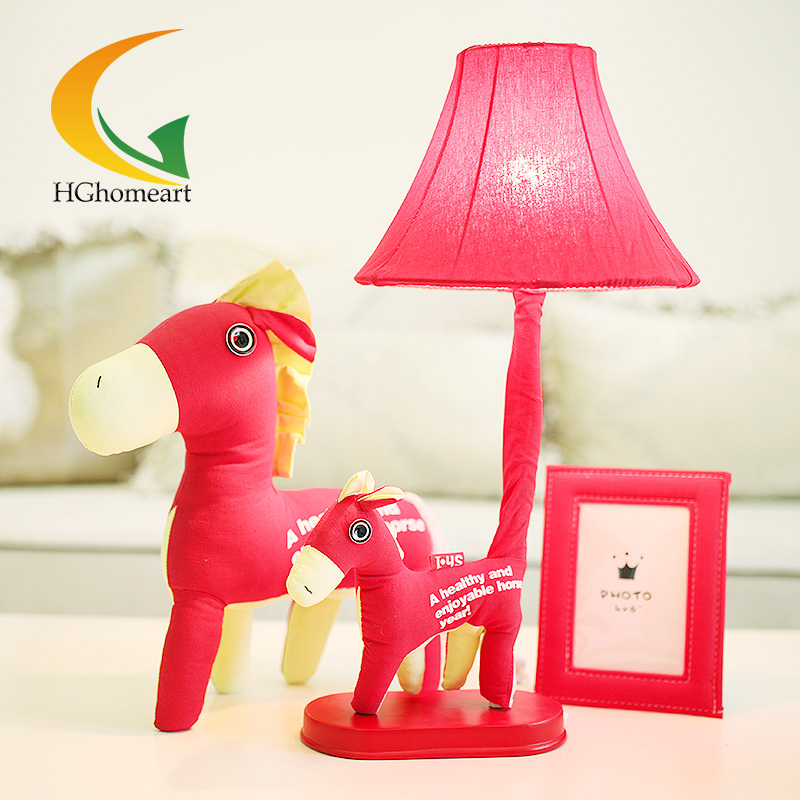 Creative modern decorative fixture cartoon new wedding marriage room table lamp red desk Lamps(China (Mainland))