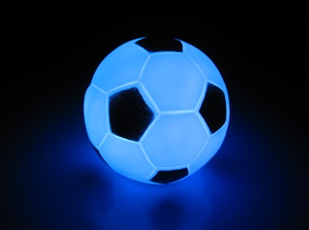 Football Shape LED Night Light Color Changing Soccer Night Lamp Home Decor Christmas Decoration Kids Child Toy(China (Mainland))
