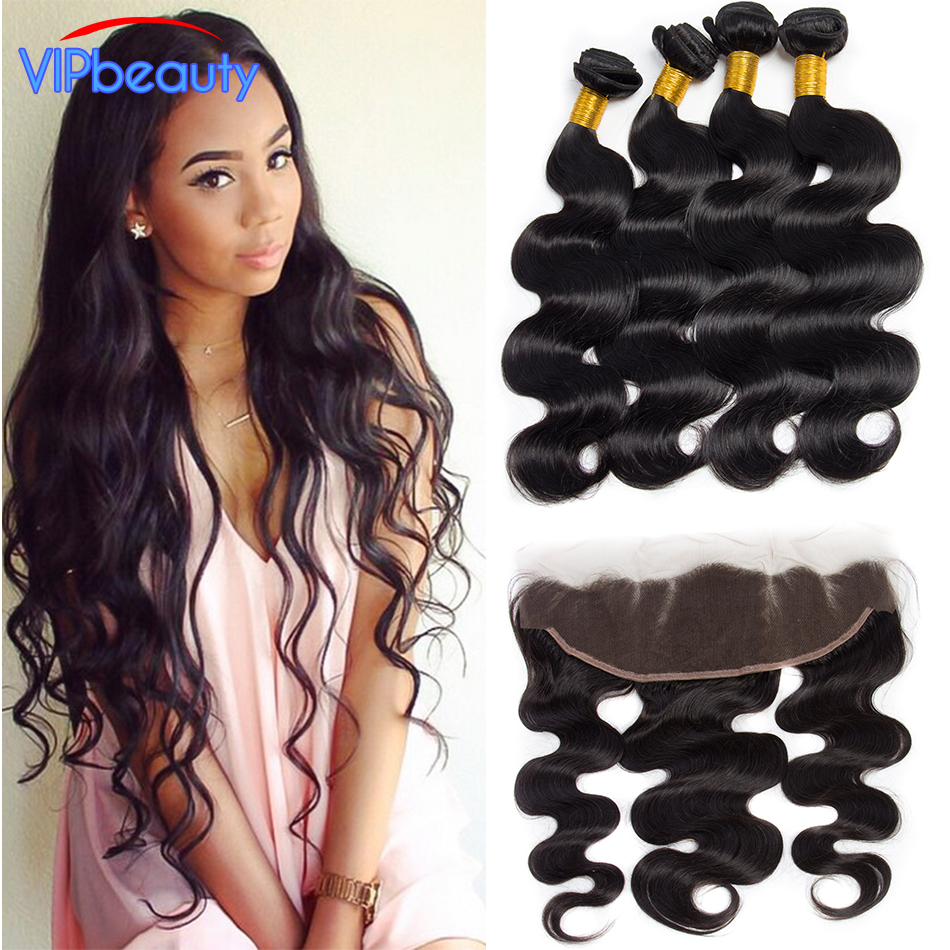 ear to ear lace frontal closure with bundles ,Brazilian virgin hair with closure ,body wave 3 bundles with closure human hair