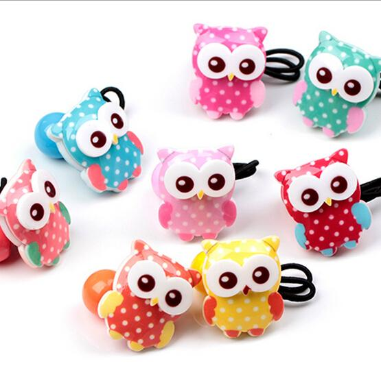 New Arrival styling tool cute Owl Elastic Hair Bands accessories make you Beautiful used by women young girl and children(China (Mainland))