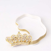 Buy New Girl's Head Accessories Hairbands Princess Queen Rhinestone Tiara Elastic Hair Band Headband Kids Flower Crown Headwear for $1.01 in AliExpress store