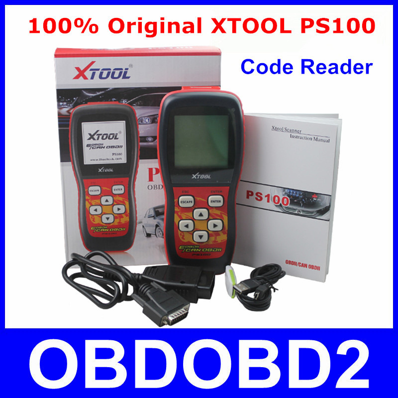 Update Online XTOOL PS100 Live Data Scanner OBDII EOBD PS 100 Code Reader Works On All 1996 And Newer Cars 100% Original InStock(China (Mainland))