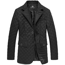 Warm winter coat and cotton quilted cotton embroidery suit slim sport dress gentleman Jacket zILLI Men's wear