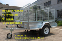 HOT DIP GALAVANIZED 7x4 box trailer with 900mm cage, all-welded.(China (Mainland))