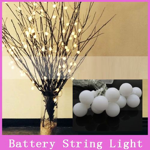 Novelty Outdoor lighting 2m 20 LED white string lamps white wire Christmas Lights fairy wedding garden pendant garland(China (Mainland))