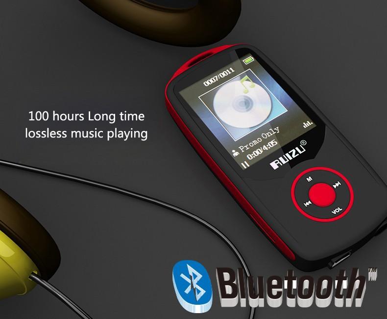 Купить 2016 Новый Оригинальный RUIZU X06 16 Г Bluetooth MP3 Плеер 1.8 Дюймов 100ч Высокое Качество Lossless Рекордер FM Радио Спорт Walkman